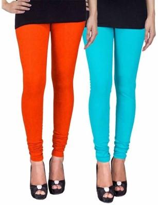 Ayesha Fashion Women's Orange, Blue Leggings