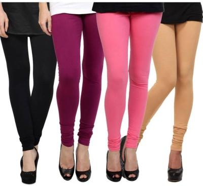 Fashion Zilla Women's Black, Maroon, Pink, Beige Leggings