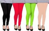 PAMO Women's Black, Multicolor Leggings ...