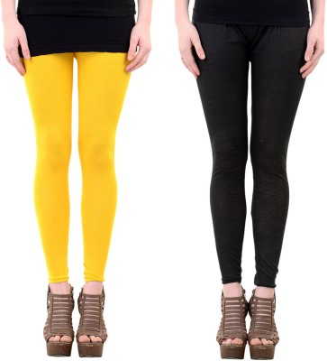Mynte Women's Yellow, Black Leggings
