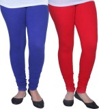 Ambitious Women's Red, Blue Leggings (Pa...