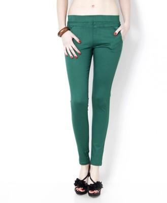 UrSense Women's Green Jeggings