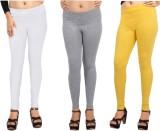Comix Women's White, Grey, Yellow Leggin...
