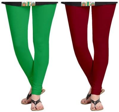 Roshni Creations Women's Green, Red Leggings