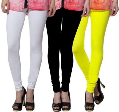 Both11 Women's White, Black, Yellow Leggings