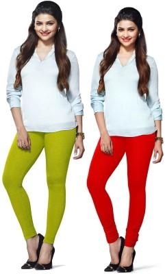 Amul Florio Women's Red, Light Green Leggings