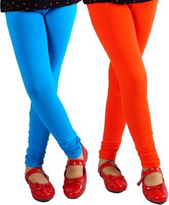 Naughty Ninos Girl's Orange, Blue Leggings