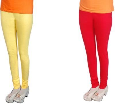 Radhika Garments Women's Yellow, Red Leggings