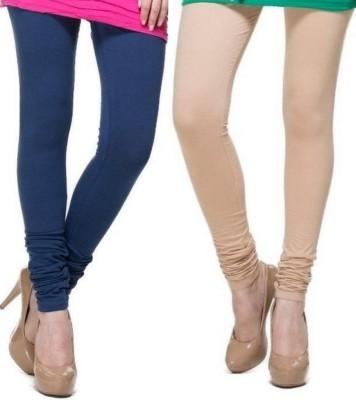 Zadine Women's Dark Blue, Beige Leggings