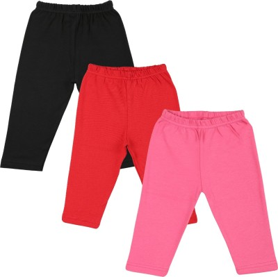 Color Fly Baby Girl's Black, Pink, Red Leggings
