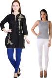 MDR Women's Blue, White Leggings (Pack o...