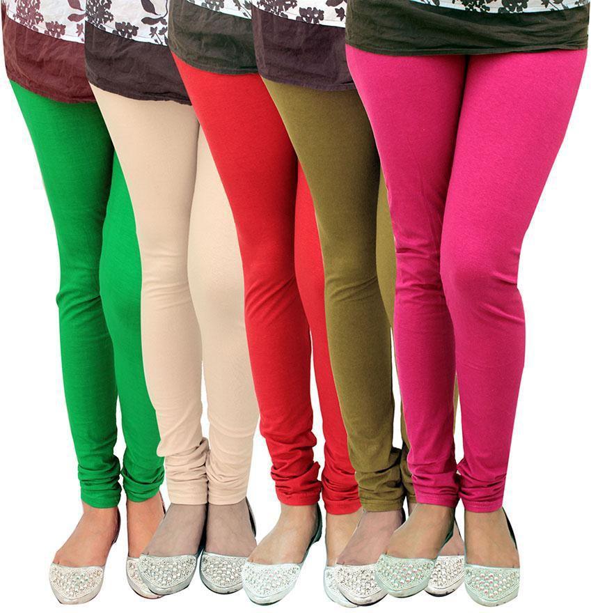 Alexus Womens Multicolor Leggings(Pack of 5)