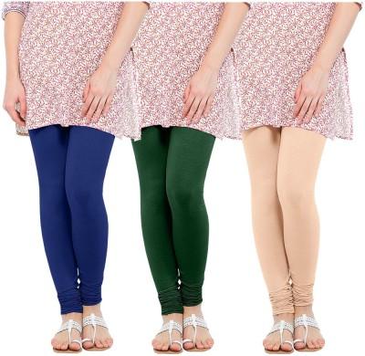 Oh Fish Women's Green, Blue, Beige Leggings