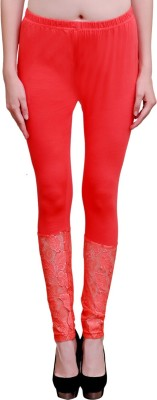 Poorvi collections Women's Red Leggings