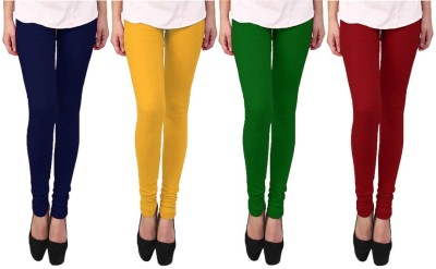 Escocer Women's Blue, Green, Maroon, Beige Leggings