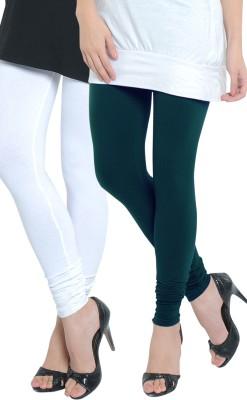 Tulsattva Women's Dark Green, White Leggings