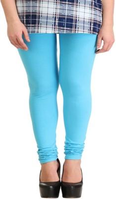 Cotton Lycra Women's Light Blue Leggings