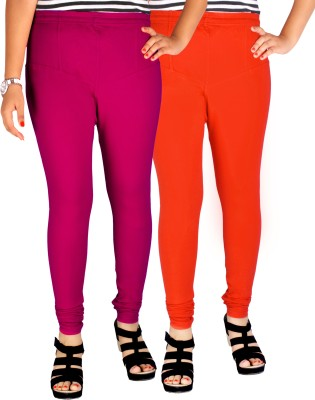 Dolphin Women's Pink, Orange Leggings