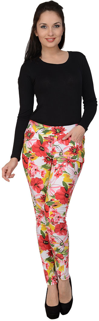 Sportelle USA India Womens Multicolor Jeggings