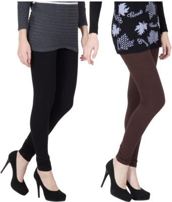 VERMELLO Women's Brown, Black Leggings