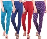 Diaz Women's Multicolor Leggings (Pack o...