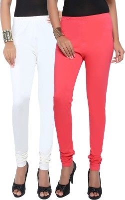 Fascino Women's White, Pink Leggings