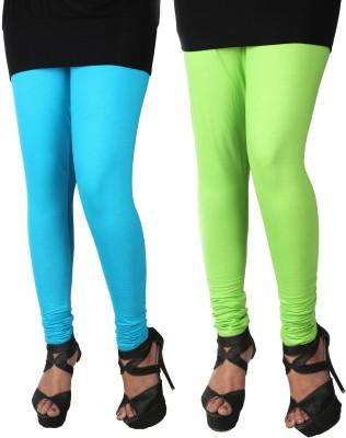 ROY Women's Light Blue, Light Green Leggings