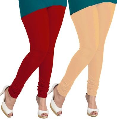 I-Diva Women's Red, Beige Leggings