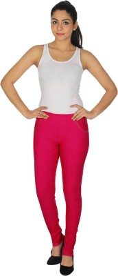 MDS Jeans Women's Pink Jeggings