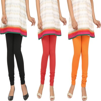 Agrima Fashion Women's Black, Red, Orange Leggings