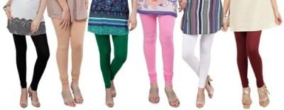 Prekrasna Women,s Black, Gold, Green, Pink, White, Purple Leggings