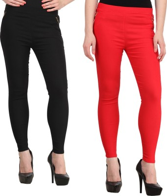 FIFO Women's Black, Red Jeggings