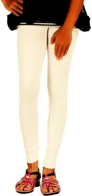WellFitLook Girl's White Leggings