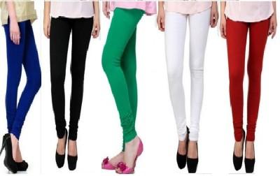 S Redish Women,s Black, Blue, White, Green, Red Leggings