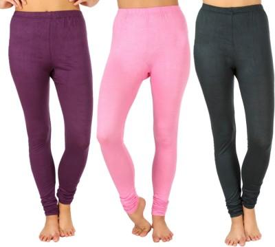 SLS Women's Purple, Pink, Dark Green Leggings