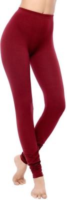 Coucou by Zivame Women's Maroon Leggings