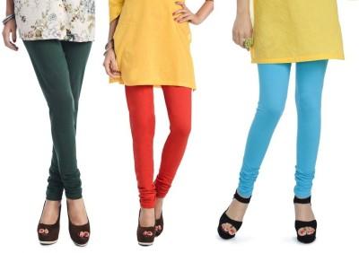Rupa Softline Women's Blue, Orange, Green Leggings