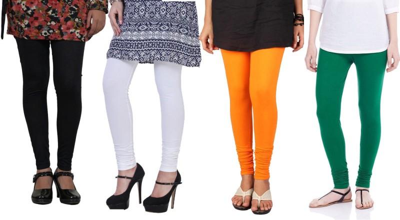 Blu Women's Multicolor Leggings(Pack of 4)