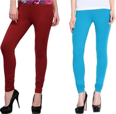 NGT Women's Maroon, Light Blue Leggings