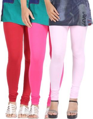 Be-Style Women,s Maroon, Pink, Pink Leggings