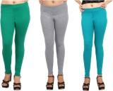 Comix Women's Green, Grey, Green Legging...