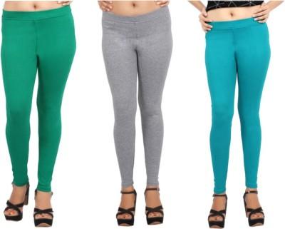Comix Women's Green, Grey, Green Leggings
