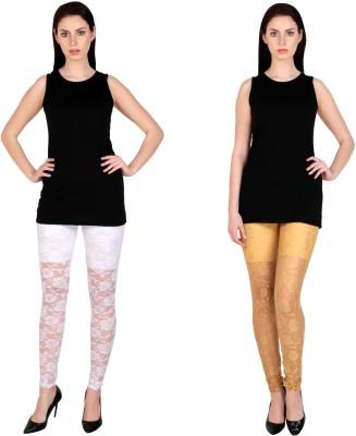 Simrit Women's White, Beige Leggings