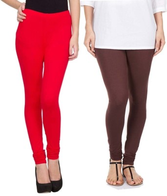 Sampoorna Collection Women's Red, Brown Leggings