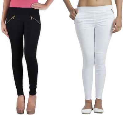 Universal Mart Women's Black, White Jeggings