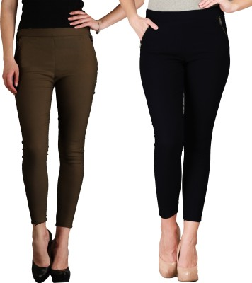 IKL Women's Black, Brown Jeggings