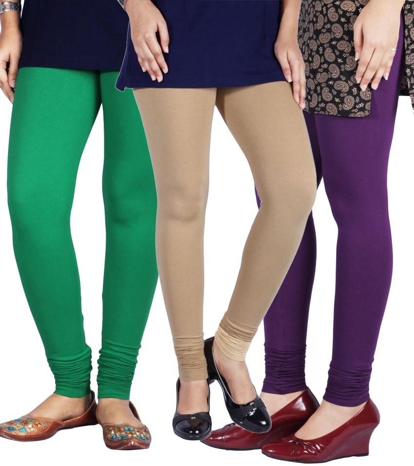 Yaari Womens Multicolor Leggings(Pack of 3)