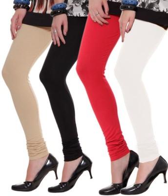 Aaradhyaa Women,s Black, Red Leggings