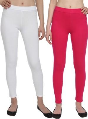 Aloft Women's White, Pink Leggings