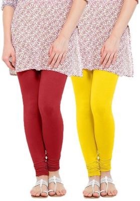 CP Bigbasket Women's Red, Yellow Leggings